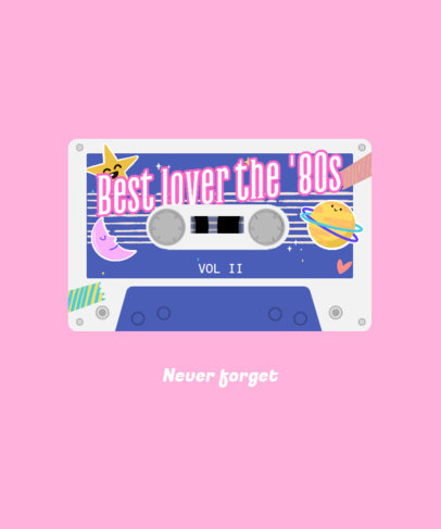 T-Shirt Design Generator with an 80's Music Cassette Graphic 4021c