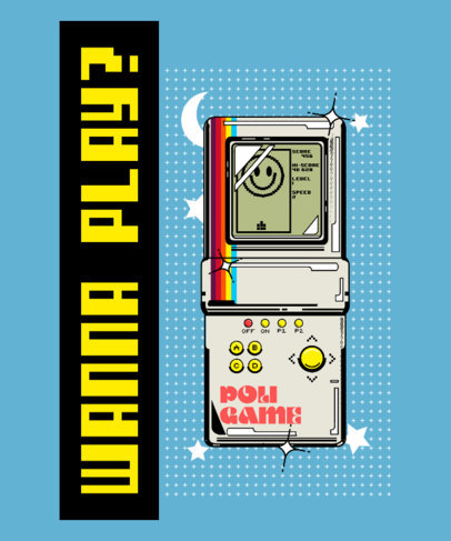 T-Shirt Design Generator Featuring a Retro Gaming Device 4022c