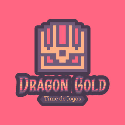 8-Bit Logo Generator with a Treasure Chest Graphic 4625c
