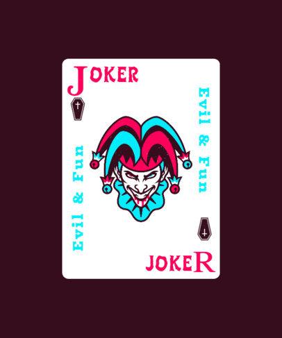 T-Shirt Design Generator Featuring a Joker Card Clipart 4618c