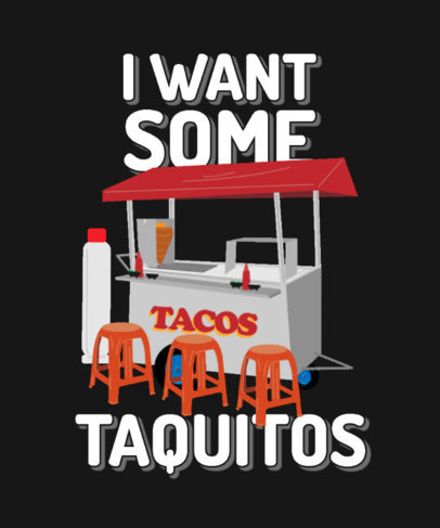 Quote T-Shirt Design Creator Featuring a Taco Stand 4018c