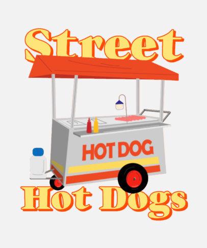 T-Shirt Design Generator Featuring a Hot Dog Cart Clipart 4018f