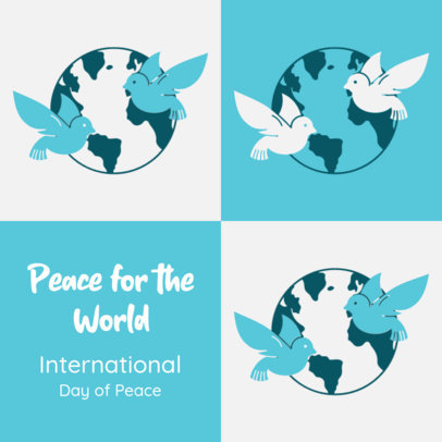 World Peace-Themed Instagram Post Creator with Customizable Text 4030b