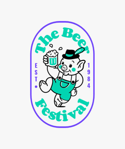 T-Shirt Design Maker for a Beer Festival Featuring Illustrated Characters 4047