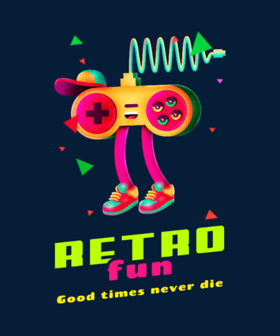 T-Shirt Design Creator with a Retro Gaming Controller Character 4013a