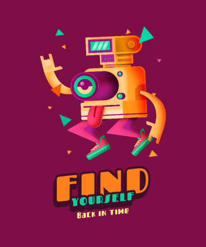 Illustrated T-Shirt Design Maker Featuring an Isometric Character 4013d
