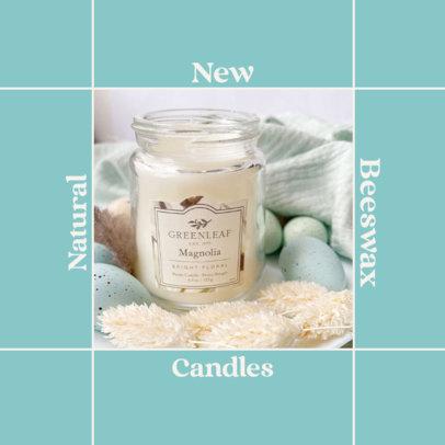 Instagram Post Generator for an Organic Candles Brand 4374b-el1