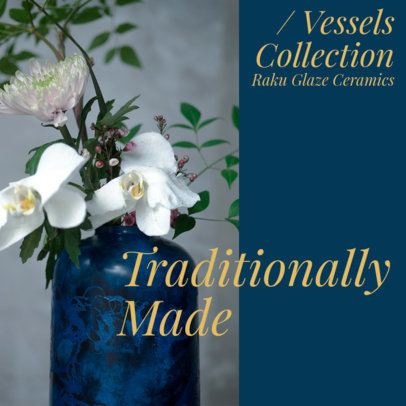 Instagram Post Maker to Promote a Vessels Collection 4337a-el1
