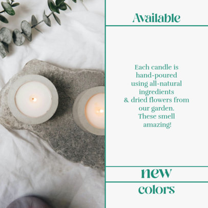 Instagram Post Generator for an Organic Candle Store 4376-el1