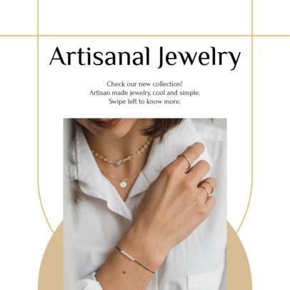 Instagram Post Design Template With a Carousel Layout for an Artisanal Jewelry Brand 4329f-el1