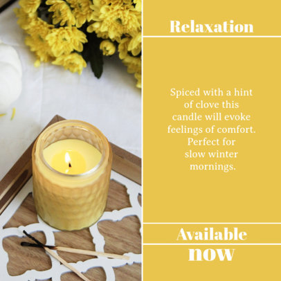 Instagram Post Creator for Scented Candles Suppliers 4376a-el1