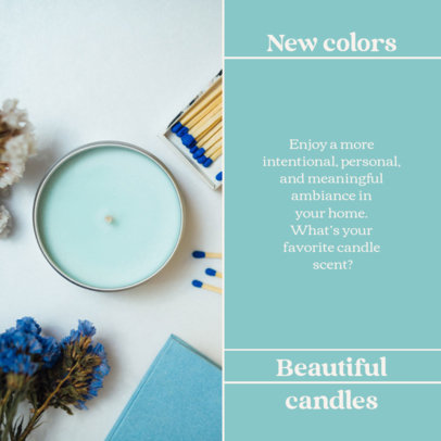 Instagram Post Template for Natural Scented Candles Brands 4376b-el1