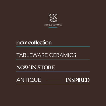 Instagram Post Creator for a Sophisticated Brand of Decorative Items 4338f-el1