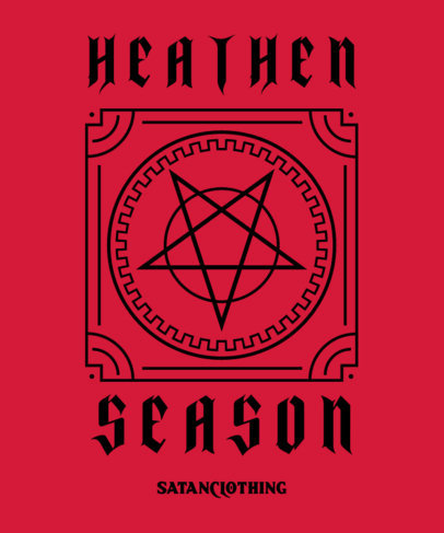 Esoteric T-Shirt Design Generator Featuring a Pentagram 4040b