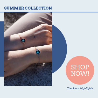 Instagram Post Design Generator for a Jewelry Brand's Artisanal Collection 4331a-el1