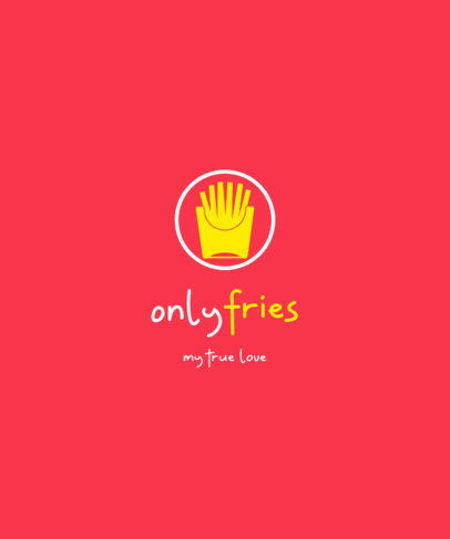 T-Shirt Design Creator with a French Fries Graphic Referencing Only Fans 4054b