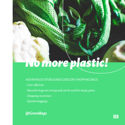 Instagram Post Design Maker Featuring Eco-Friendly Handcrafted Products 4327c-el1