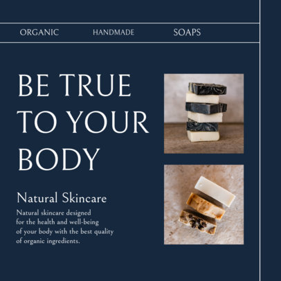 Instagram Post Maker for Handmade Soaps for a Natural Skincare Routine 4335c-el1