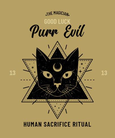 Fun T-Shirt Design Maker with an Esoteric Cat Theme 4042a