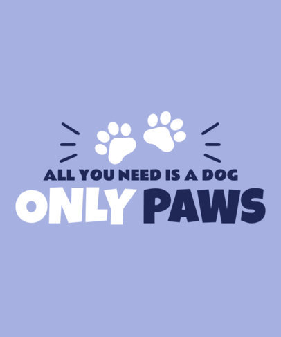 OnlyFans-Parody T-Shirt Design Template for Dog Enthusiasts 4051a