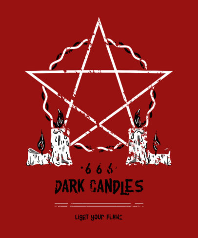 T-Shirt Design Maker for Black Metal Bands With a Satanic Style 4041d