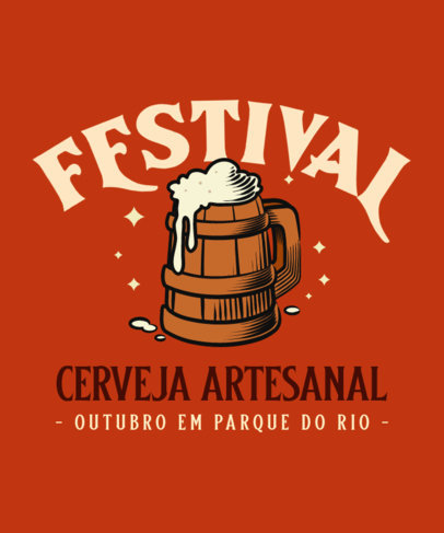 T-Shirt Design Generator for a Craft Beer Festival 4048b