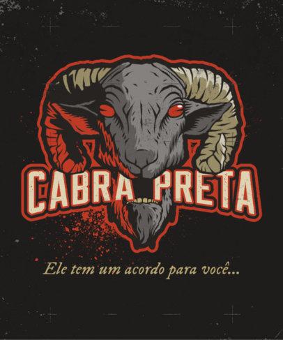 T-Shirt Design Creator with a Demonic Goat Head Graphic 4634d