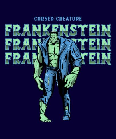 T-Shirt Design Generator Featuring the Monster of Frankenstein 4635c