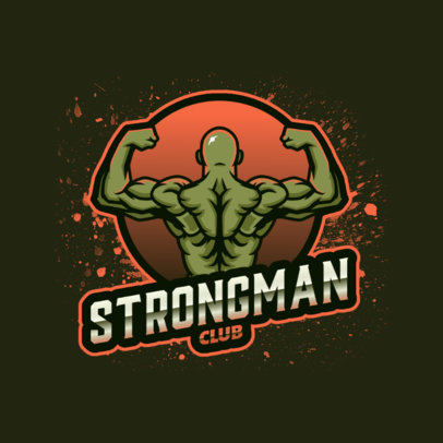 Online Logo Maker for a Training Center Featuring a Bodybuilder Graphic 4628d