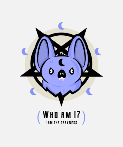 Fun T-Shirt Design Creator with a Cute Graphic of a Vampire Bat 4037f