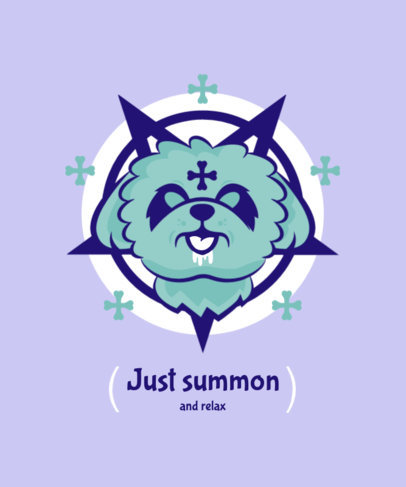 T-Shirt Design Generator with a Kawaii Esoteric Graphic 4037g