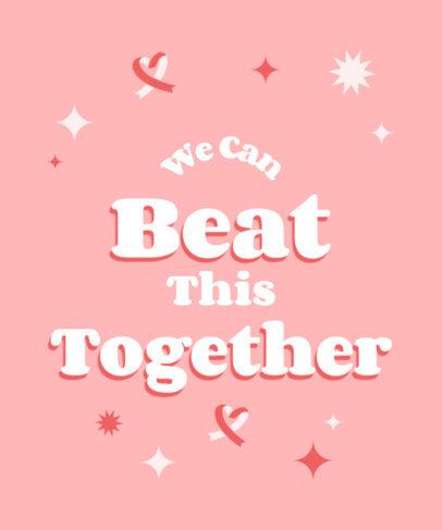 Breast Cancer Awareness-Themed T-Shirt Design Template 4061