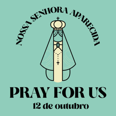 Facebook Post Template Featuring Our Lady of Aparecida Prayers 4065
