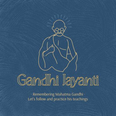 Instagram Post Creator to Celebrate the Birthday of Gandhi 3924j-4075