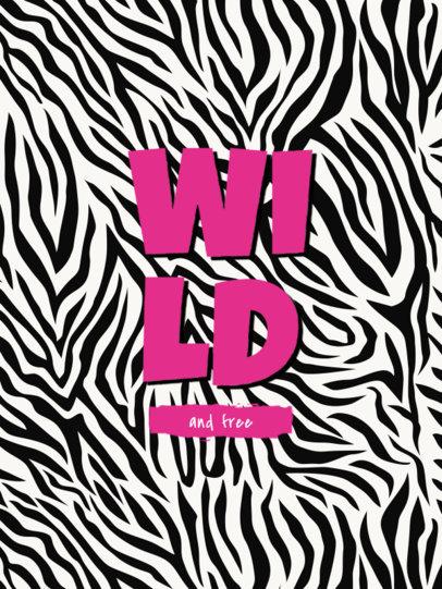 Notebook Cover Generator Featuring a Zebra Print Background 4382c-el1