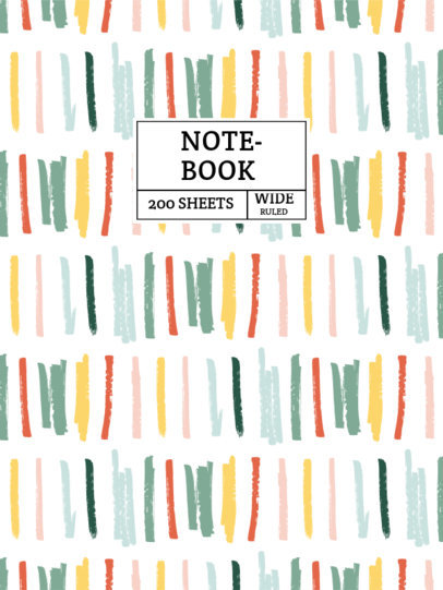 Notebook Cover Generator with a Colorful Marker Stroke Pattern 4380a-el1