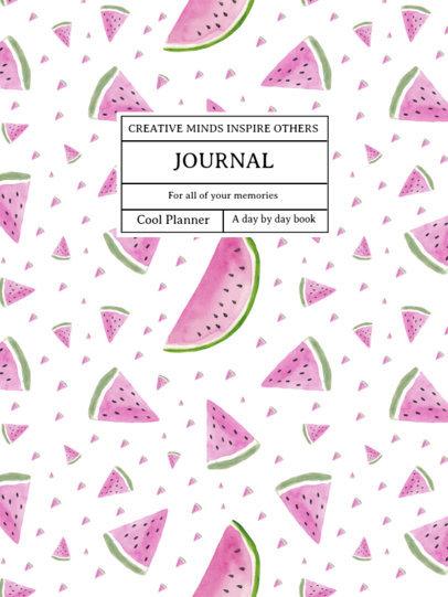 Notebook Cover Creator Featuring Watermelon Graphics 4396c-el1