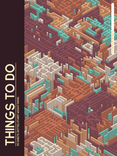Isometric-Themed Notebook Cover Generator 4394f-el1
