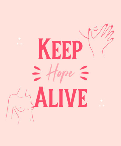 Breast Cancer Awareness-Themed T-Shirt Design Template Featuring a Hopeful Quote 4060e