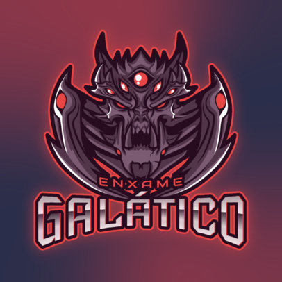 Gaming Logo Generator Featuring a StarCraft-Inspired Evil Character 4645a