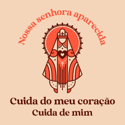 Facebook Post Template Featuring Prayer for Our Lady of Aparecida 4065d