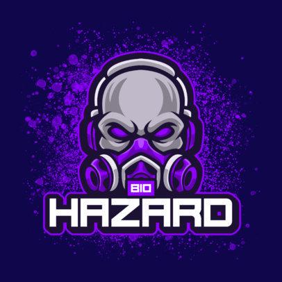 Logo Generator Featuring a Skull Wearing a Toxic Gas Mask 4402c-el1
