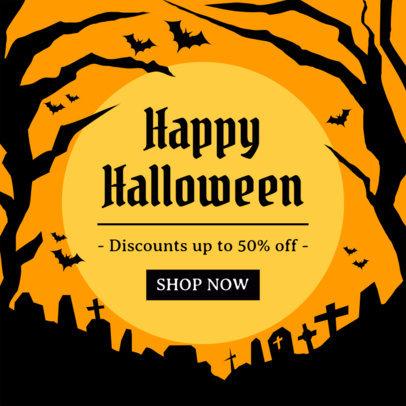 Ad Banner Maker Featuring Halloween Season Sales 4079
