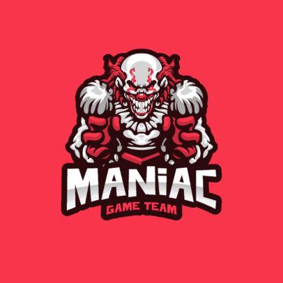 Logo Generator for a Gaming Team with a Maniac Clown 4406c-el1