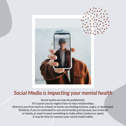 Instagram Post Design Template for a Carousel for World Mental Health Day 4422-el1