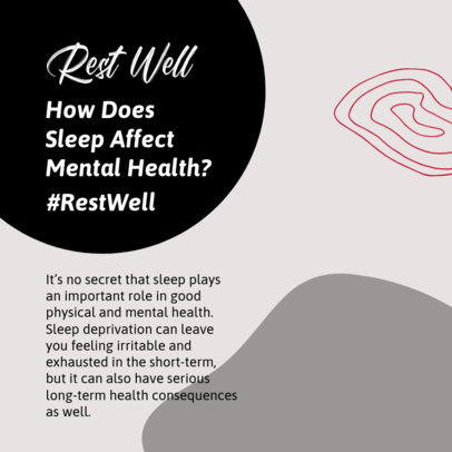 Instagram Post Creator to Celebrate Mental Health Day with a Carrousel 4420f-el1
