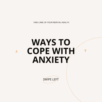 Post Design Creator for an Instagram Carousel With a Mental Health Theme 4412e-el1