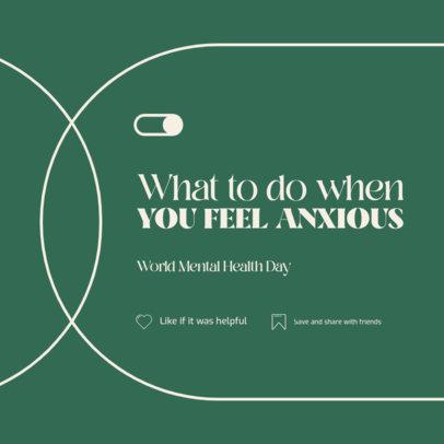 Instagram Post Design Creator Featuring Anxiety Exercises 4408c-el1