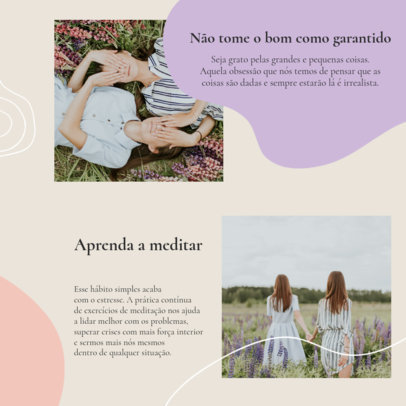 Instagram Post Template with a Quote About Mental Health in Portuguese 4421b-el1
