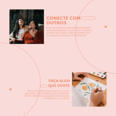 Mental Health-Themed Instagram Post Design Generator for a Carousel With Information 4413D-el1